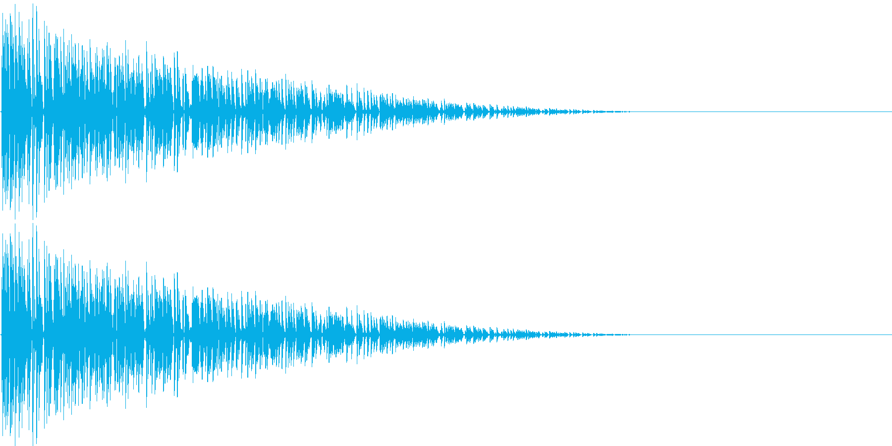ファミコン風 バーン(爆弾が爆発する音)の再生済みの波形