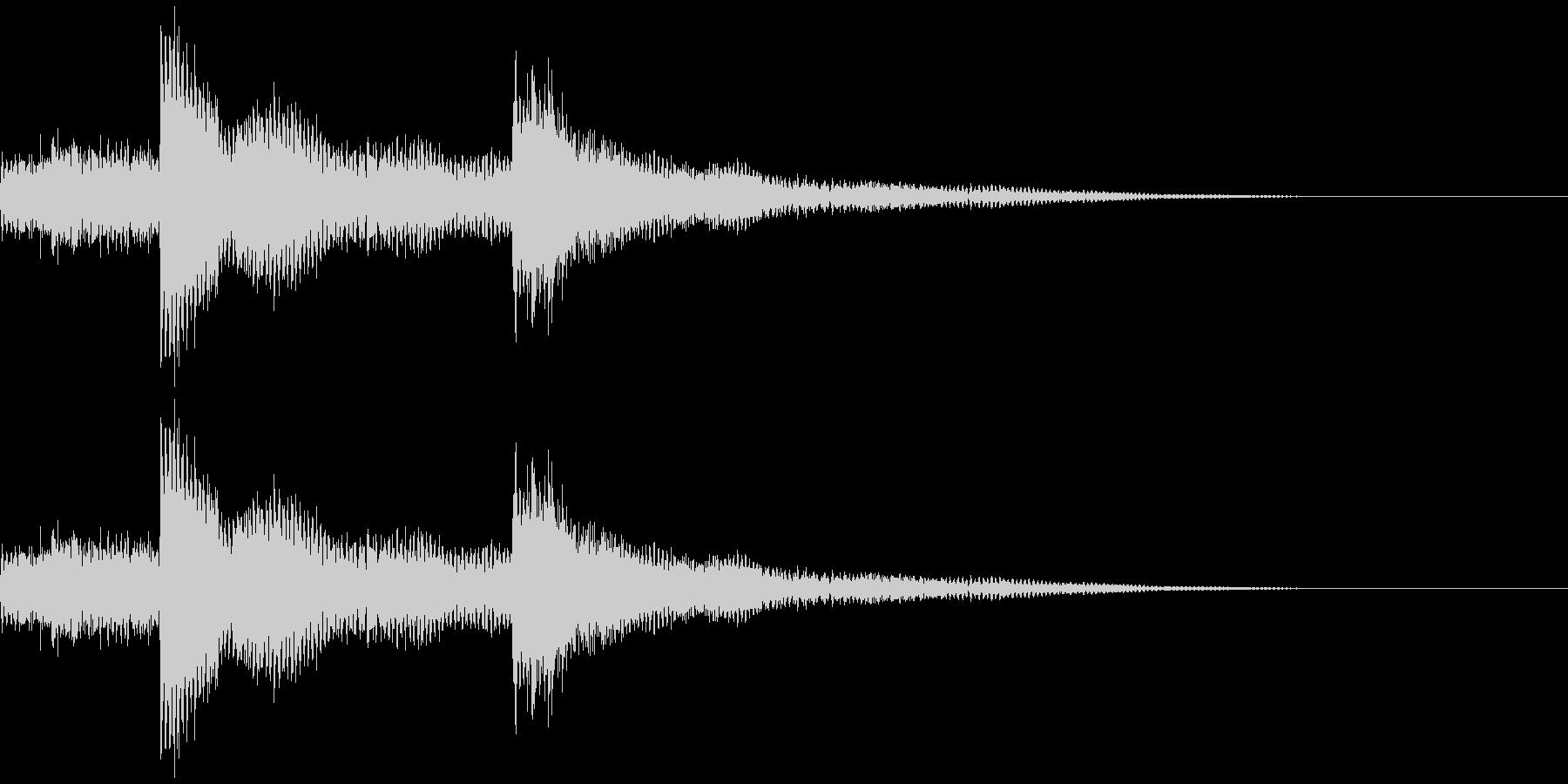 ウインドチャイム効果音(シャリーン)の未再生の波形