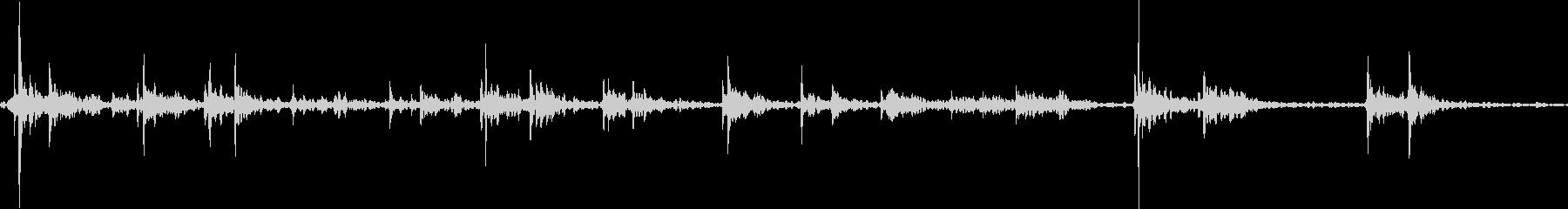 キーボードをタイピングするリアル効果音7の未再生の波形