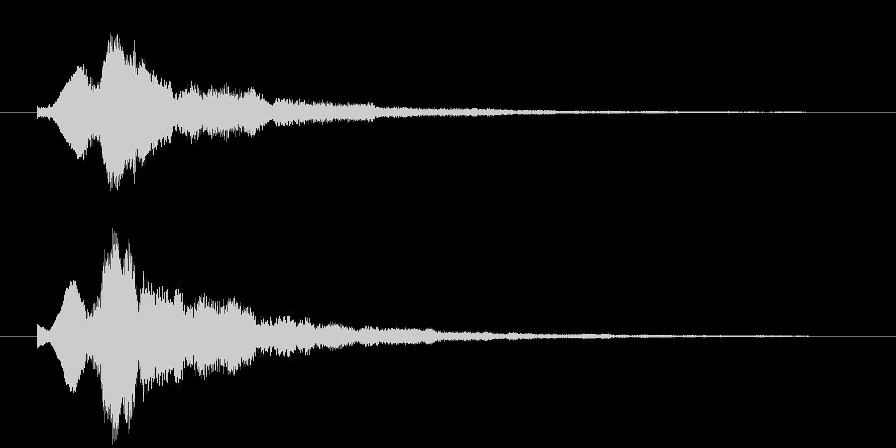 キラキラのベルシンセ音の未再生の波形