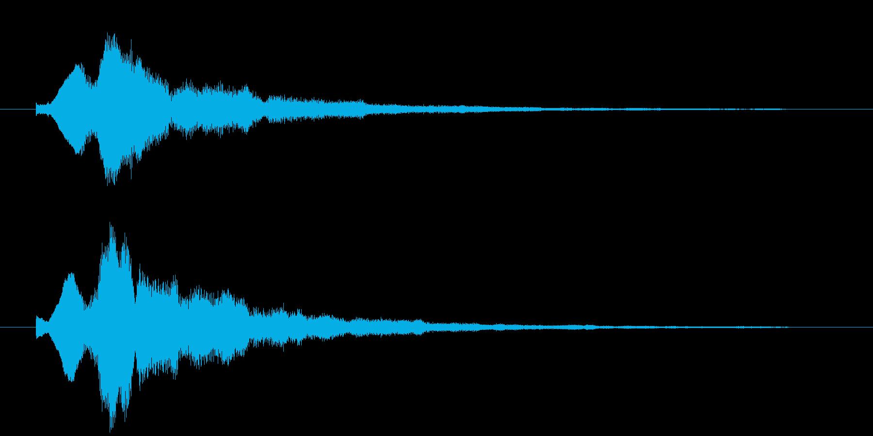キラキラのベルシンセ音の再生済みの波形