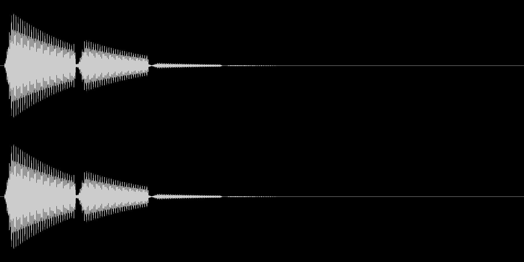 ポン(選択音/タッチ音/シンプル)の未再生の波形