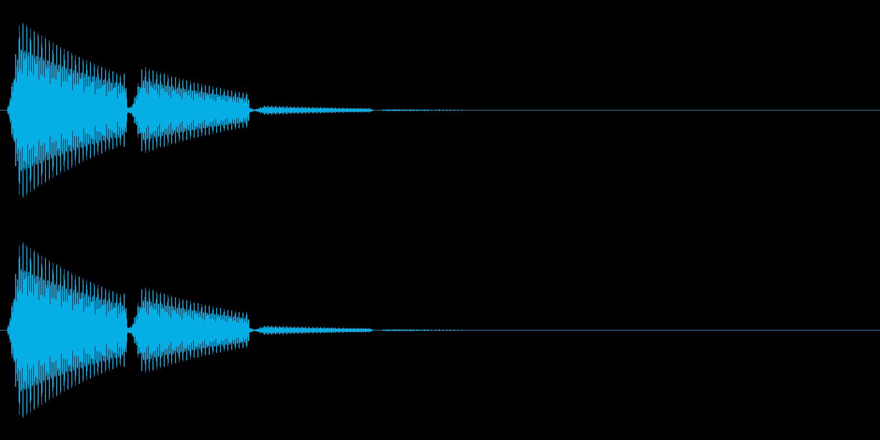 ポン(選択音/タッチ音/シンプル)の再生済みの波形