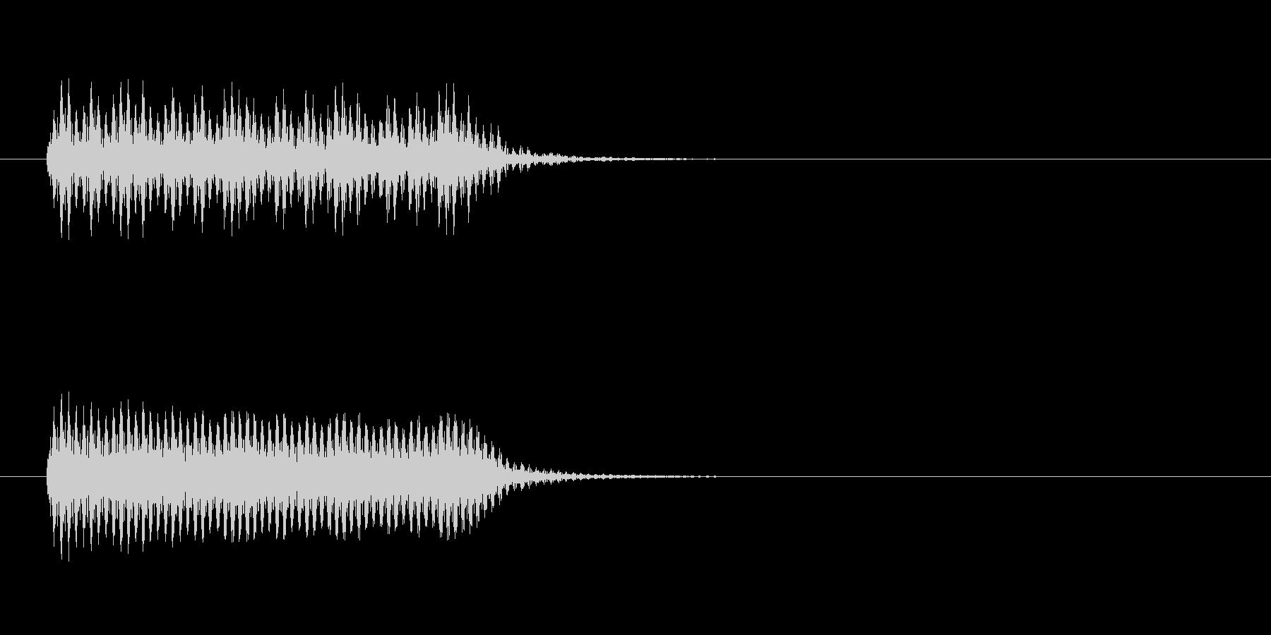 少しビリビリした音の未再生の波形