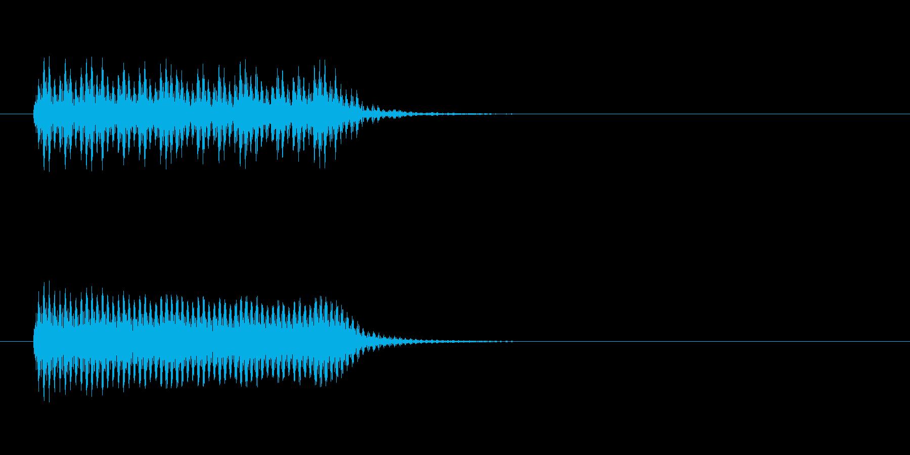 少しビリビリした音の再生済みの波形