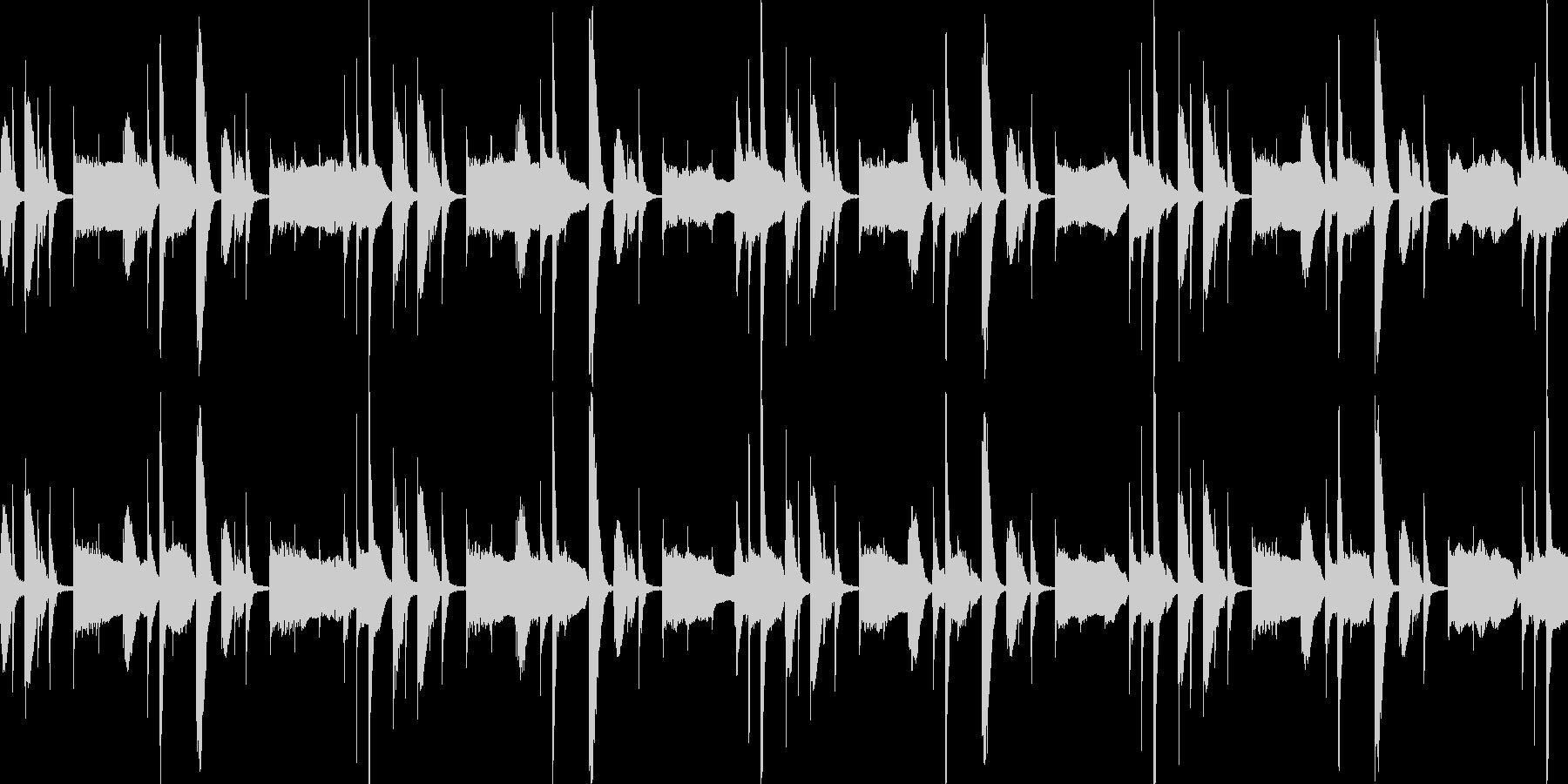 ヒップホップのバッキングトラック風ループの未再生の波形