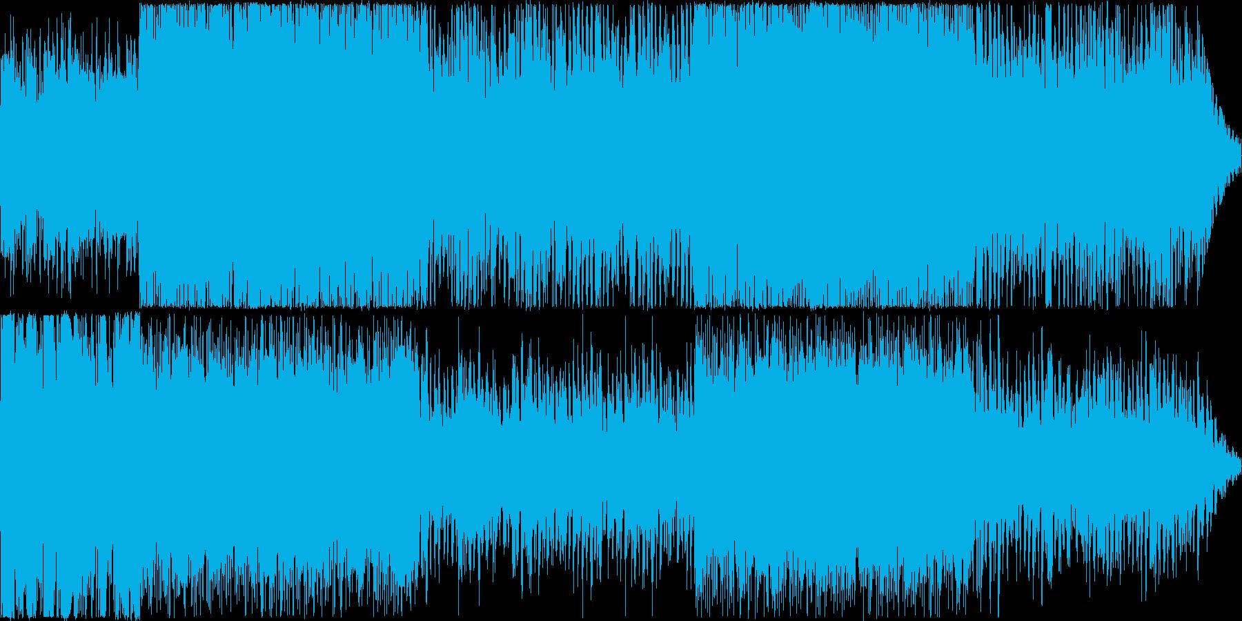 宇宙感のあるトランス系BGMの再生済みの波形