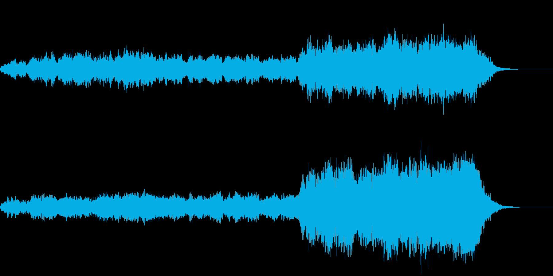 目的に辿り着いたような感動の曲の再生済みの波形