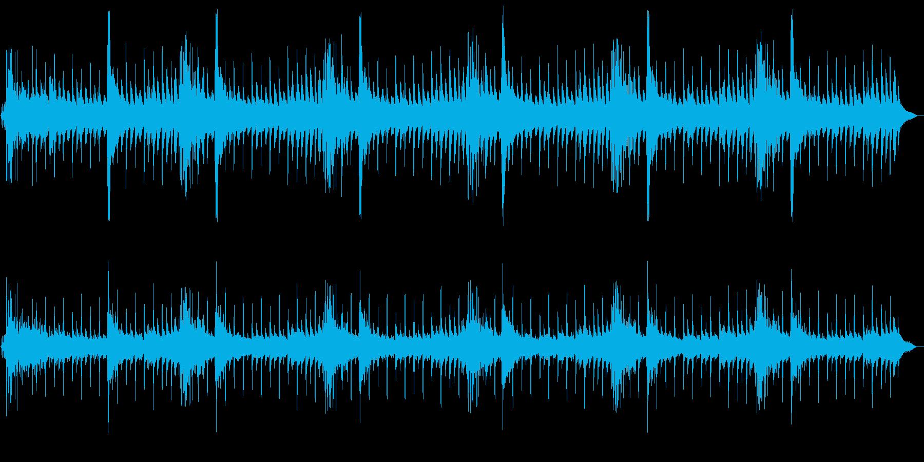 ハロウィンの怪しいBGMの再生済みの波形