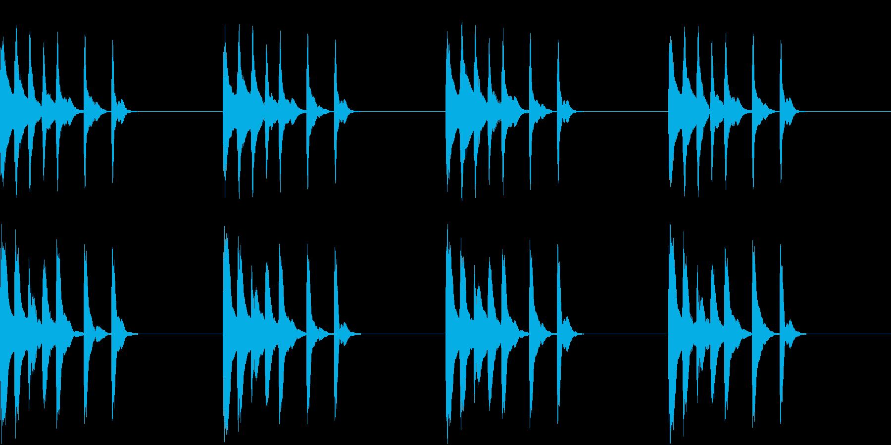 シンプル ベル 着信音 チャイム C17の再生済みの波形