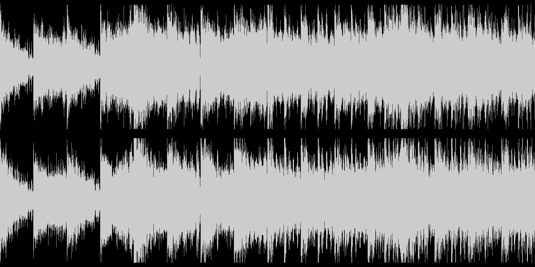短めのダークでシネマティックなループの未再生の波形