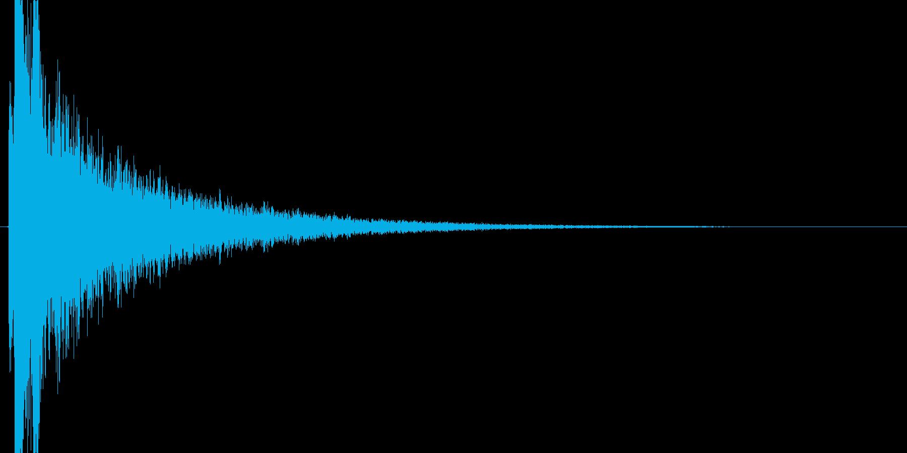 カキーン(氷魔法、凍りつく、戦闘)の再生済みの波形