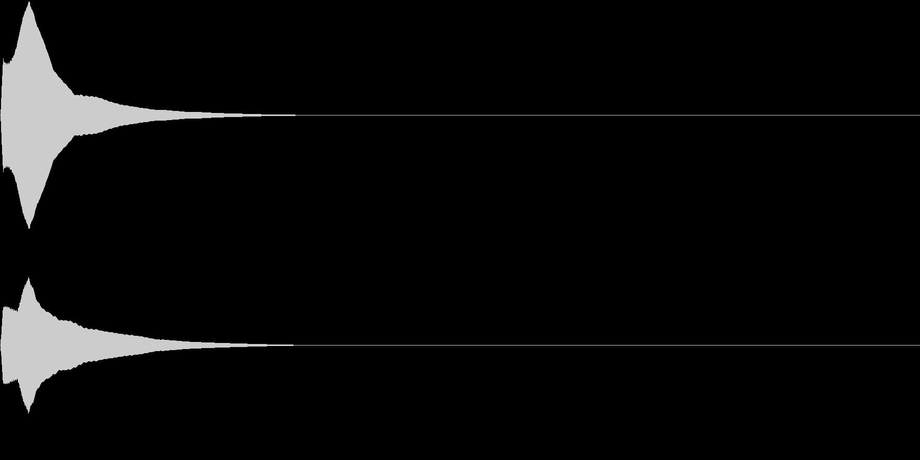 PureTouch アプリ用タッチ音35の未再生の波形