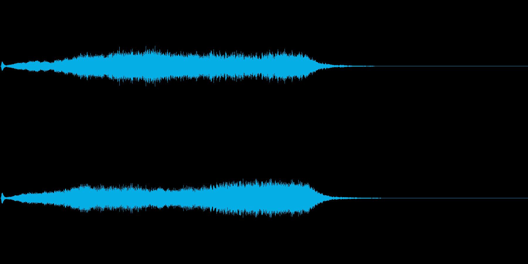 ホラー音04の再生済みの波形