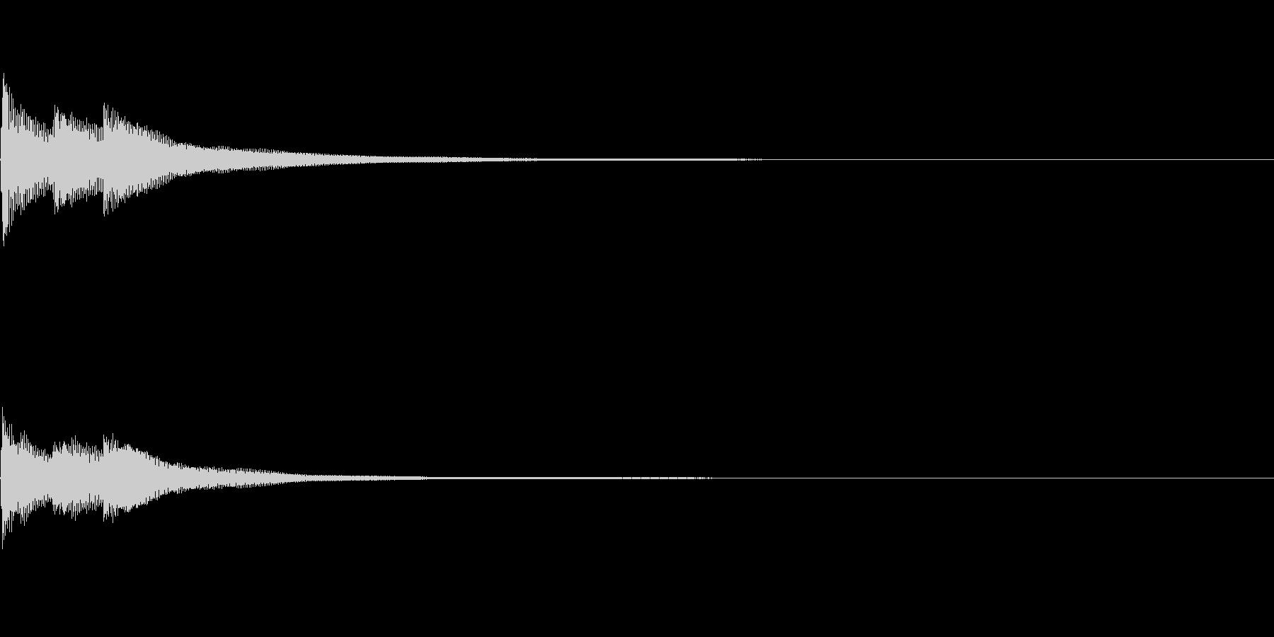 ベベン(三味線の決定音)の未再生の波形