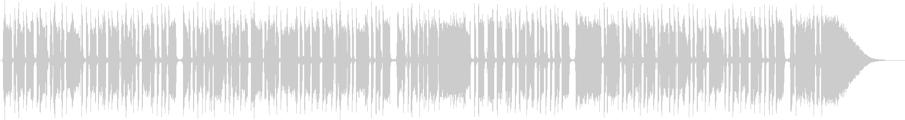 ブルースエレキギター一本の未再生の波形