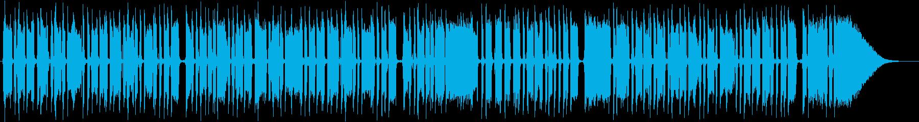 ブルースエレキギター一本の再生済みの波形