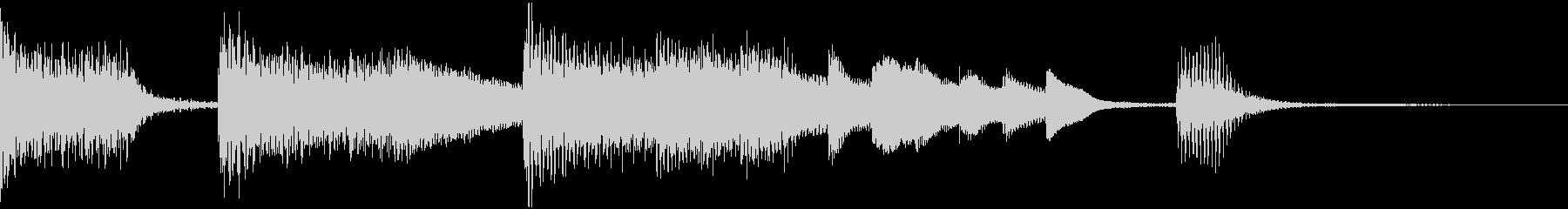 おしゃれなピアノのジングルの未再生の波形