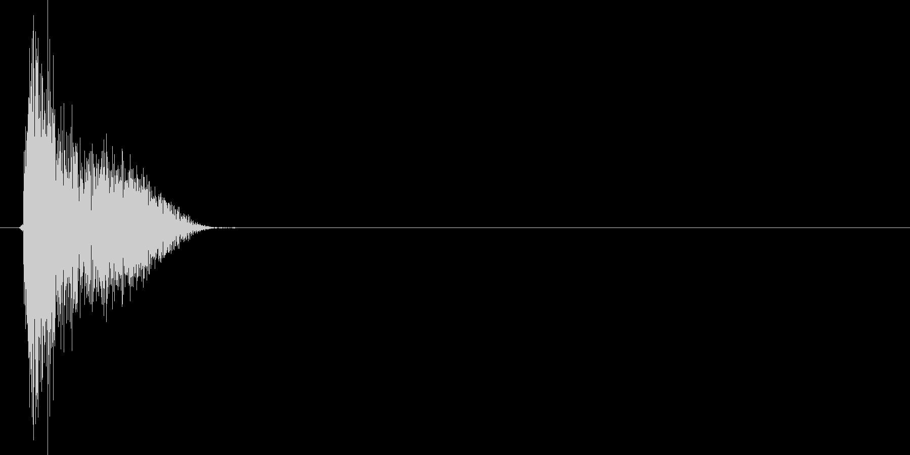 ザシュッ!(斬撃、剣、ダメージ)の未再生の波形