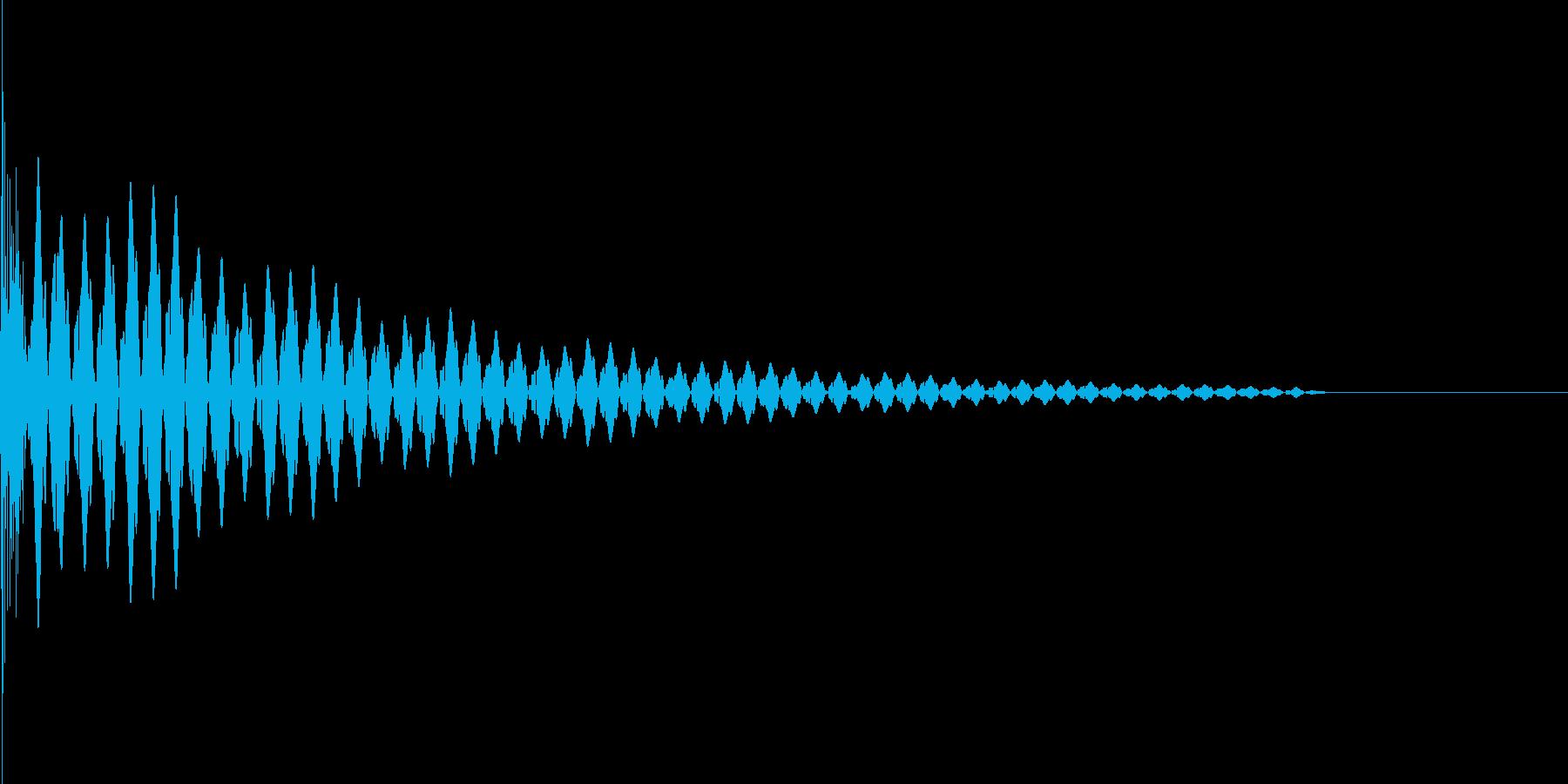 パチッ(TVやモニターを消す時などに)の再生済みの波形