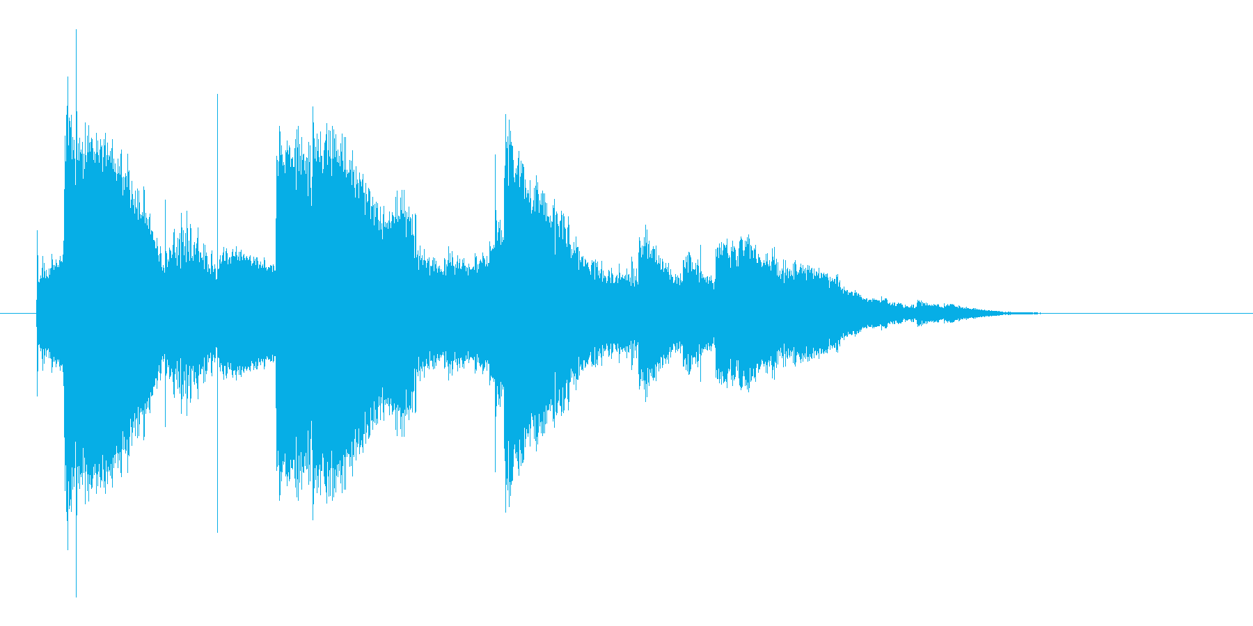 スプーンを取り落とすの再生済みの波形