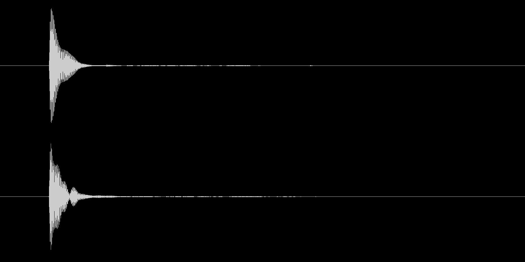 ポン(カーソル移動・決定・システム音)の未再生の波形