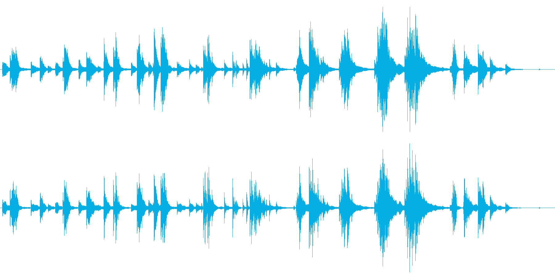 結婚式や 泣かせる映像に ■ ピアノソロの再生済みの波形