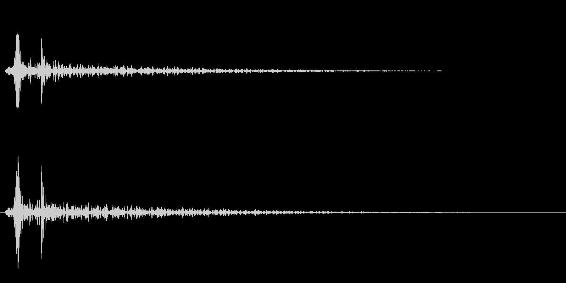 巨大モンスターの心臓音の未再生の波形