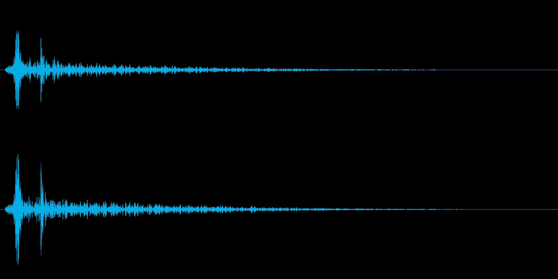 巨大モンスターの心臓音の再生済みの波形