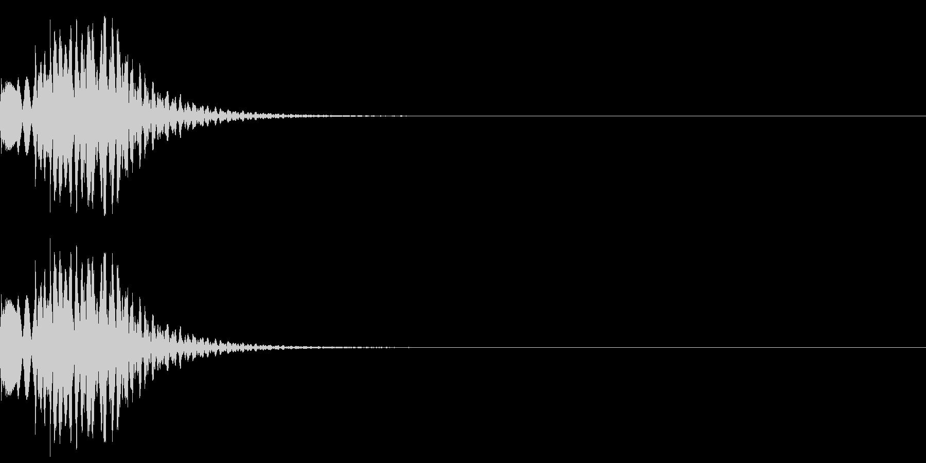 ドルルル(感情:汗)の未再生の波形