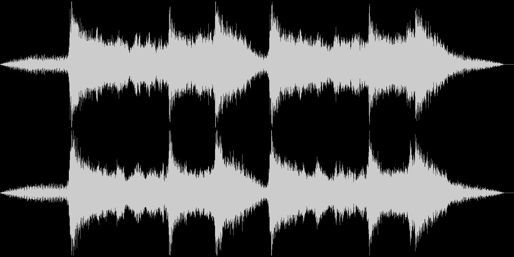 日本の伝統音楽っぽいBGMの未再生の波形