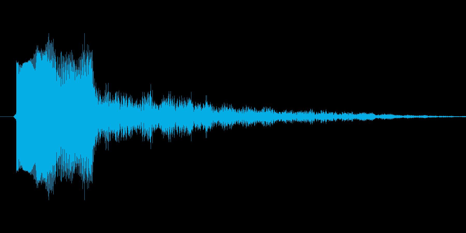ティロンというシステム音の再生済みの波形