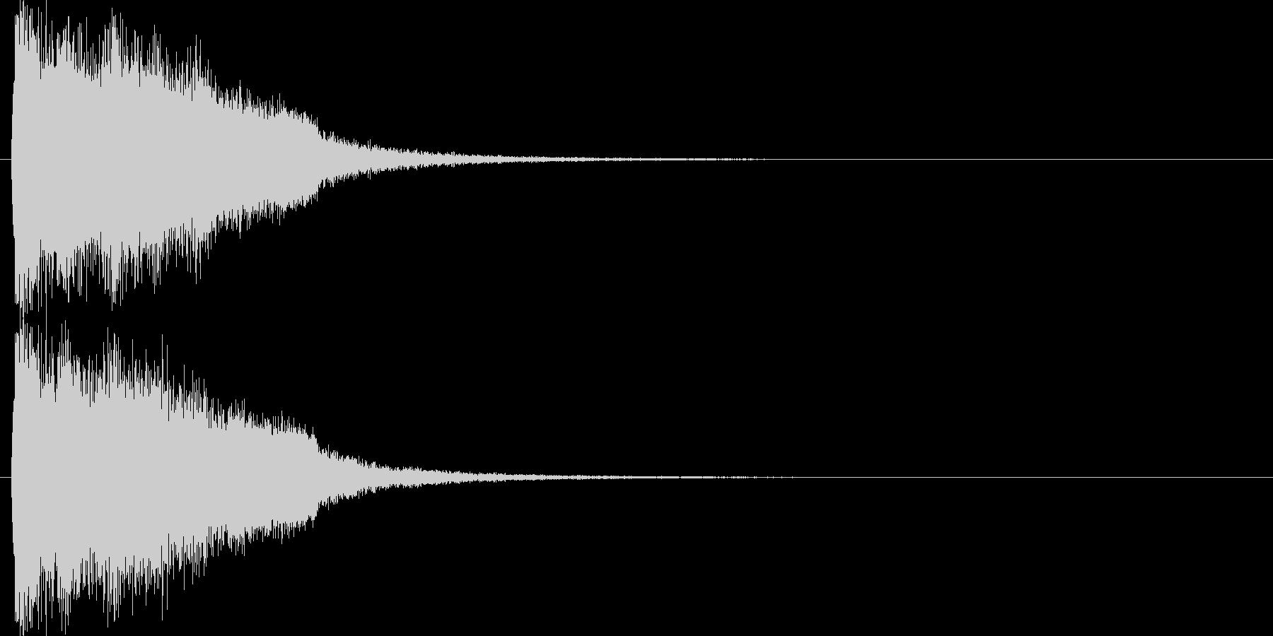 注意を引くインパクトのある音#8の未再生の波形