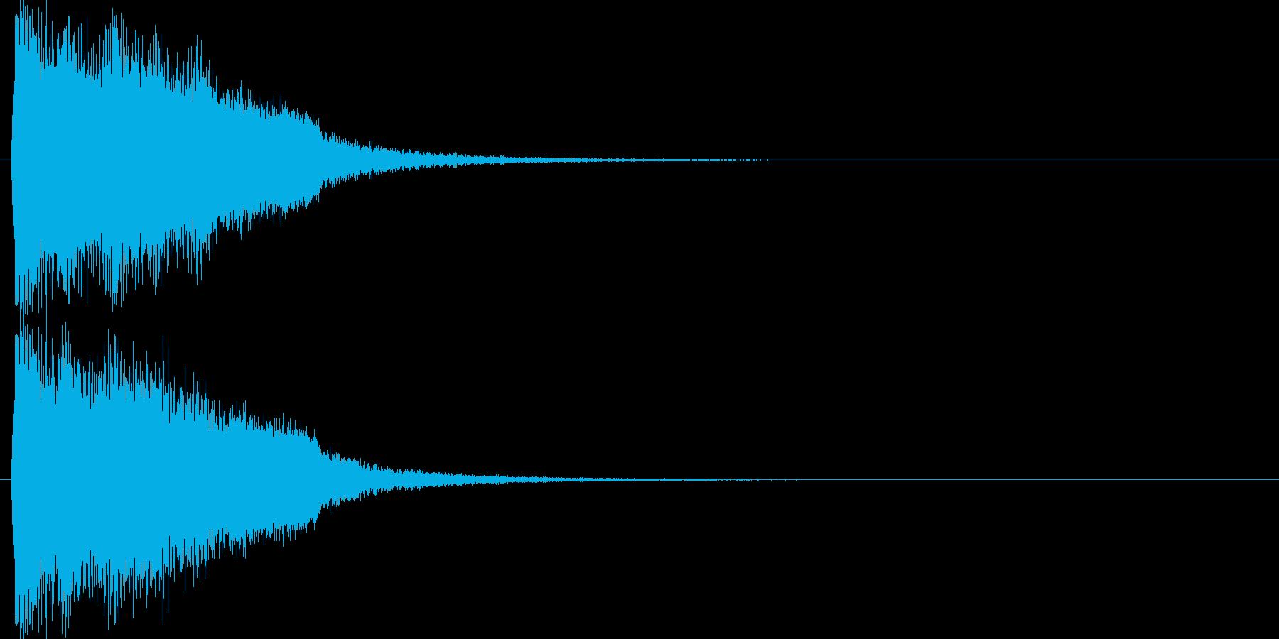 注意を引くインパクトのある音#8の再生済みの波形