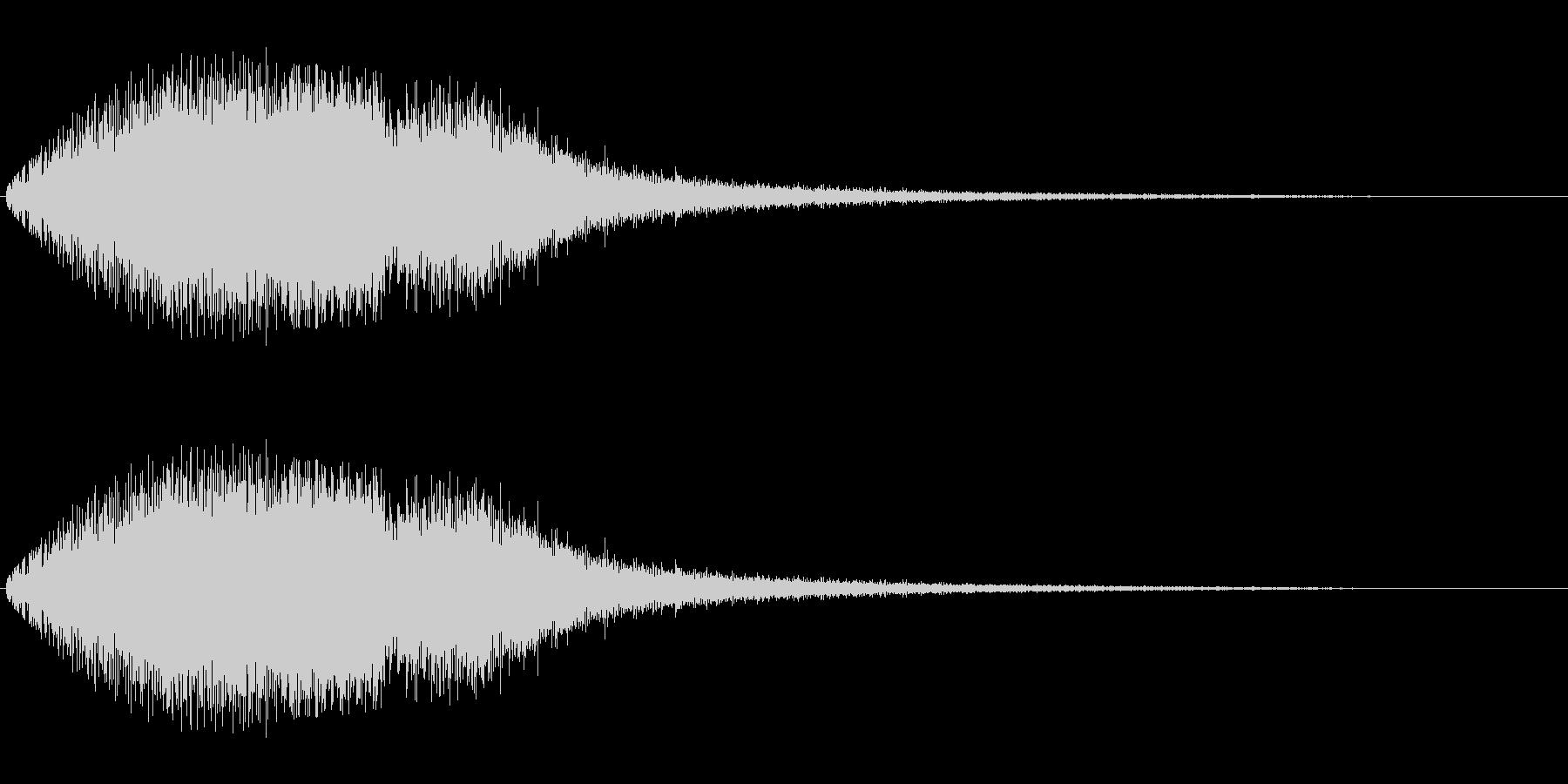 キラキラ系(変調あり)の未再生の波形