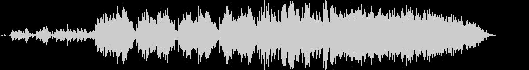 南の島の神秘的な滝のヒーリング曲の未再生の波形
