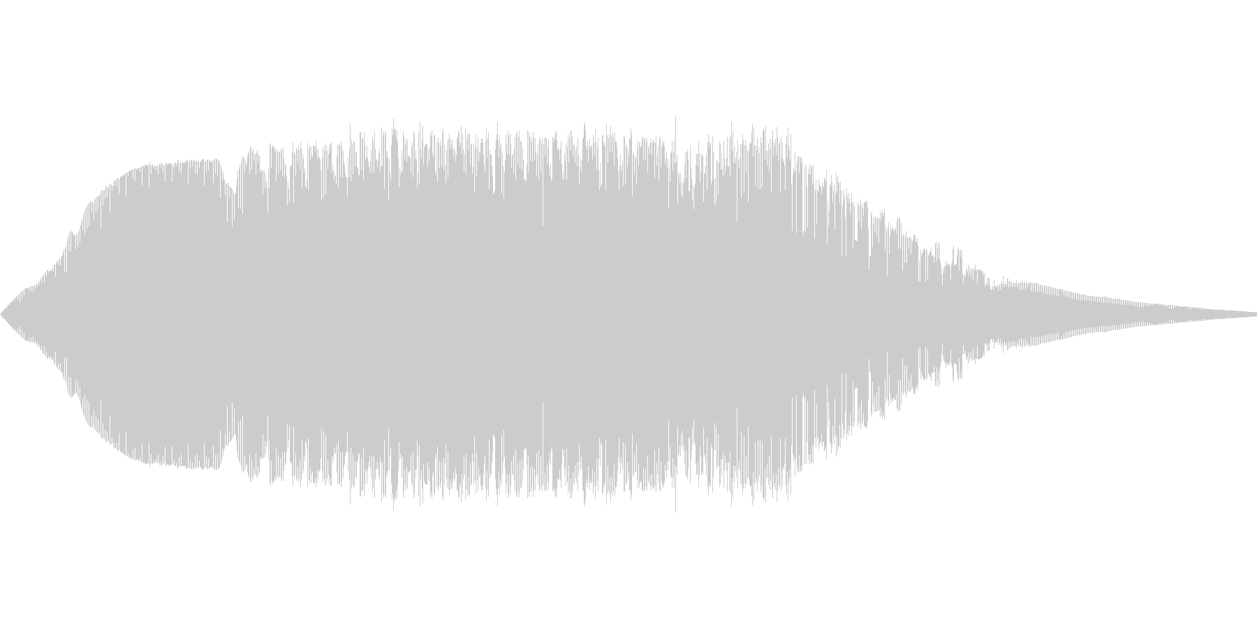 きしむ音(鉄の扉など)の未再生の波形