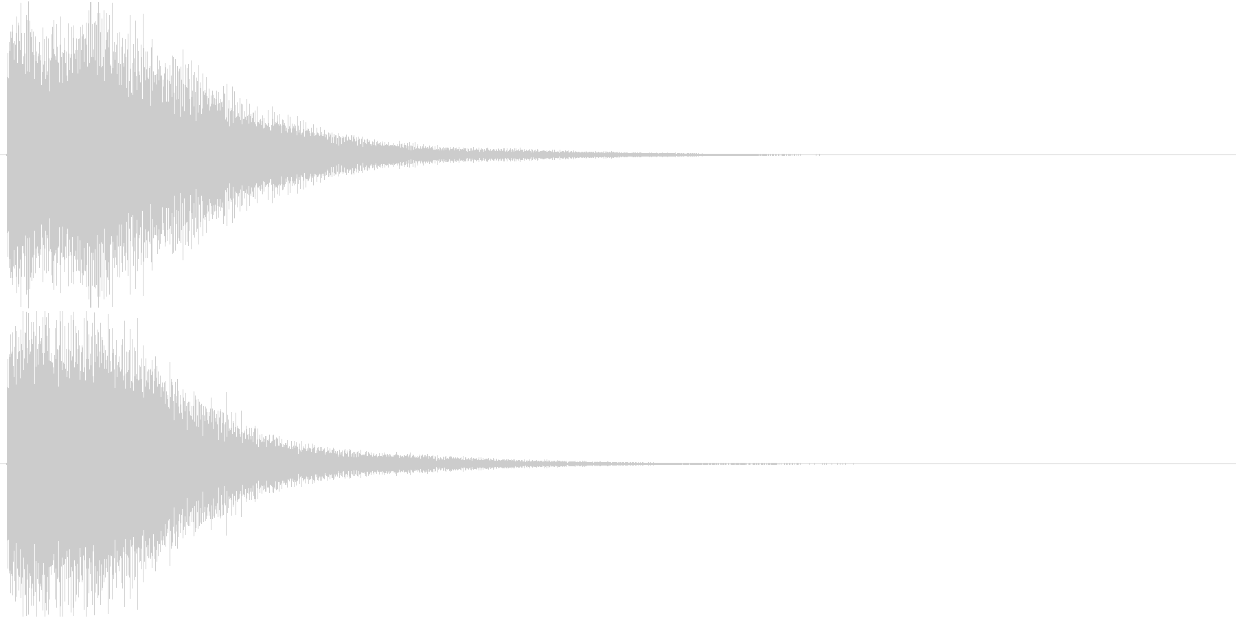 ゴーン(振り子時計の鐘)の未再生の波形