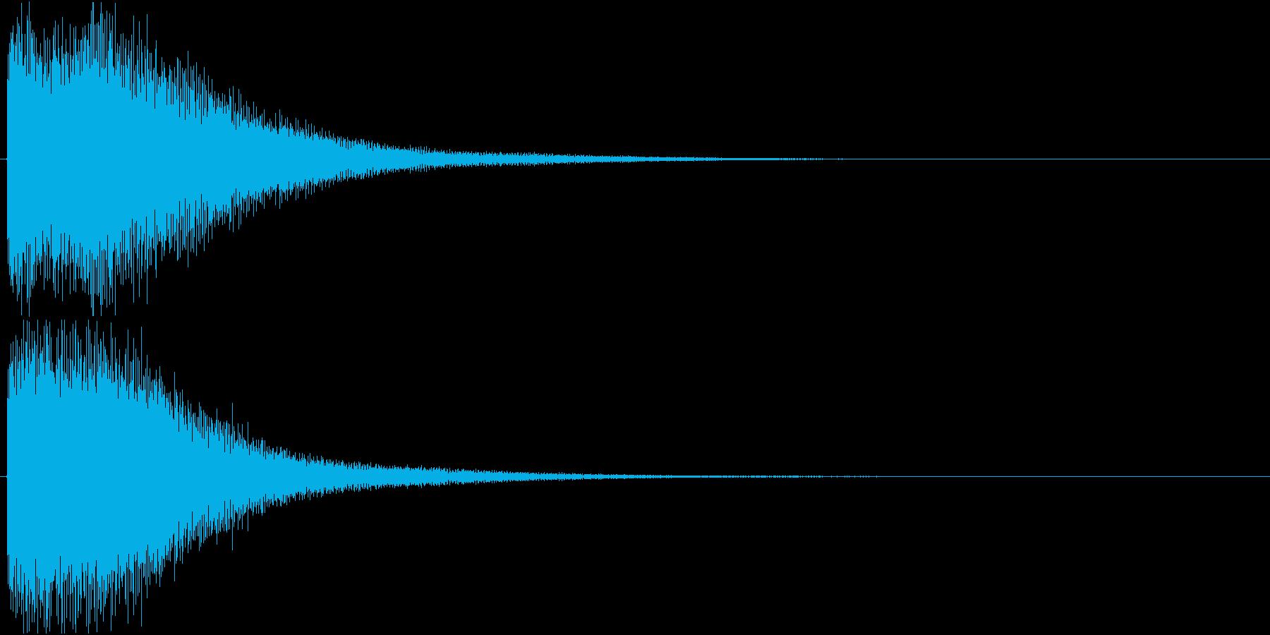 ゴーン(振り子時計の鐘)の再生済みの波形