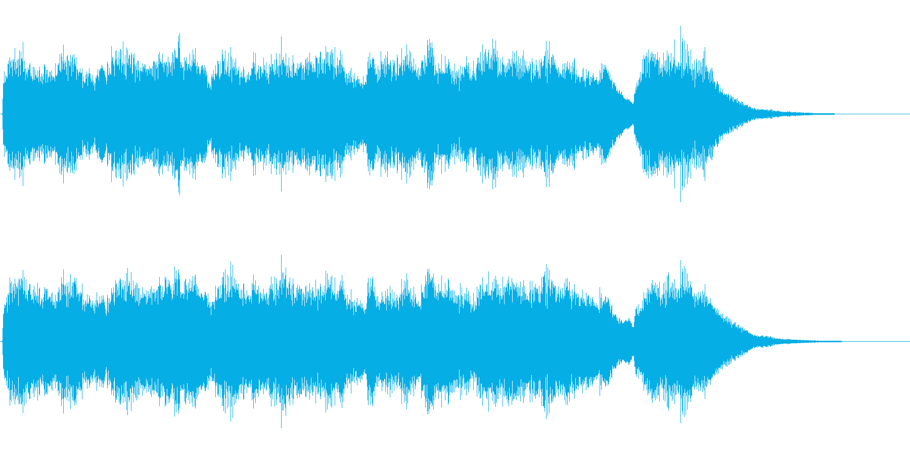 チェンバロ(ハープシコード)のジングルの再生済みの波形