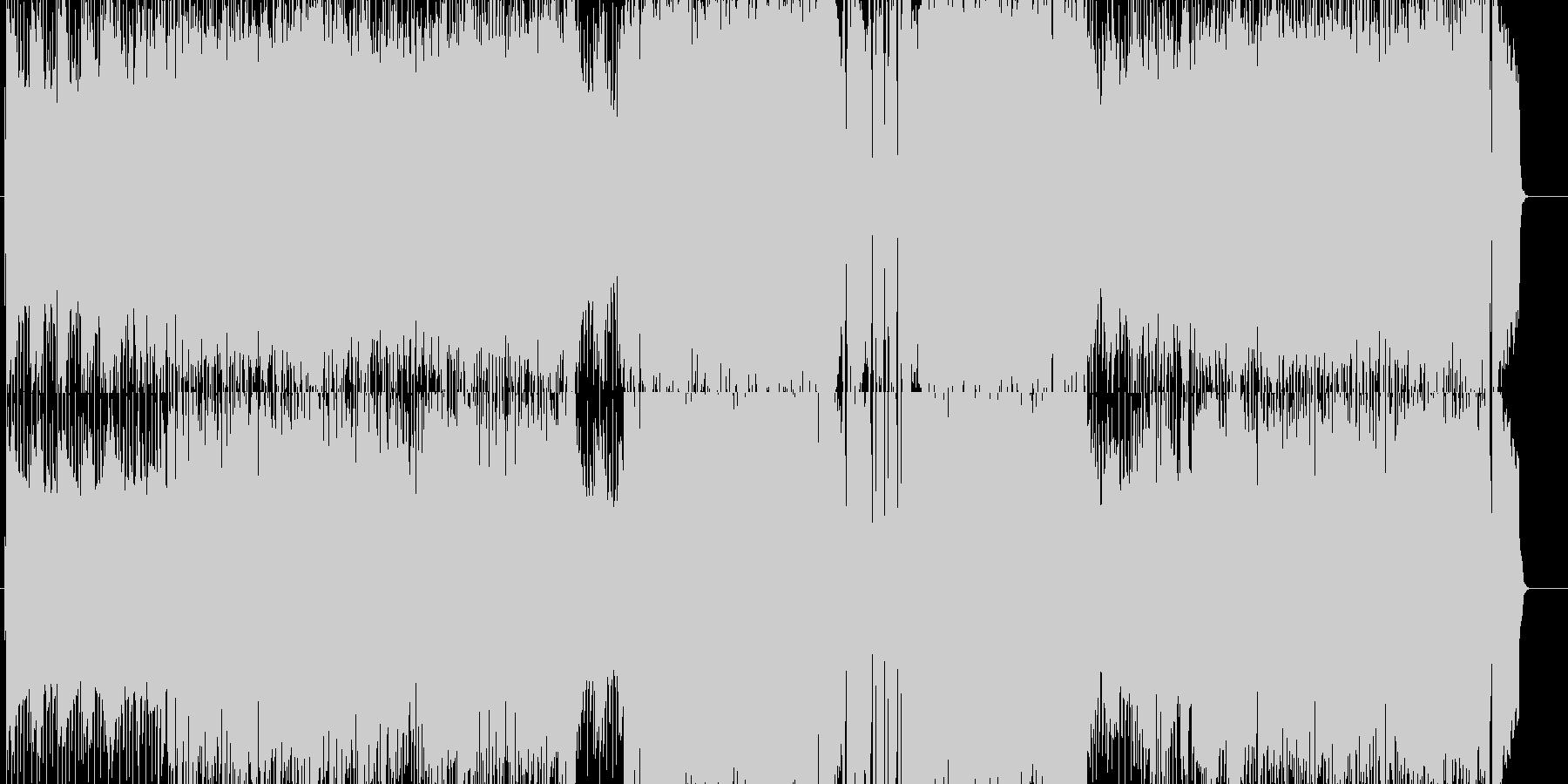 慌ただしく賑やかなレトロロックの未再生の波形