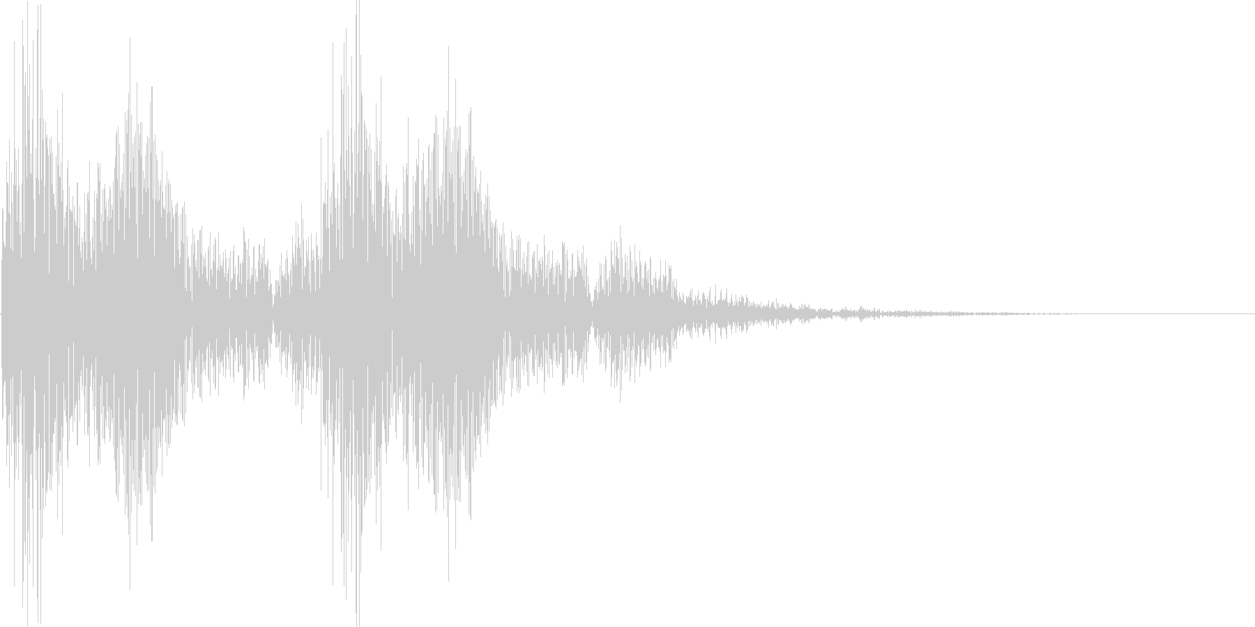ポポン カカン 小鼓と拍子木の音の未再生の波形