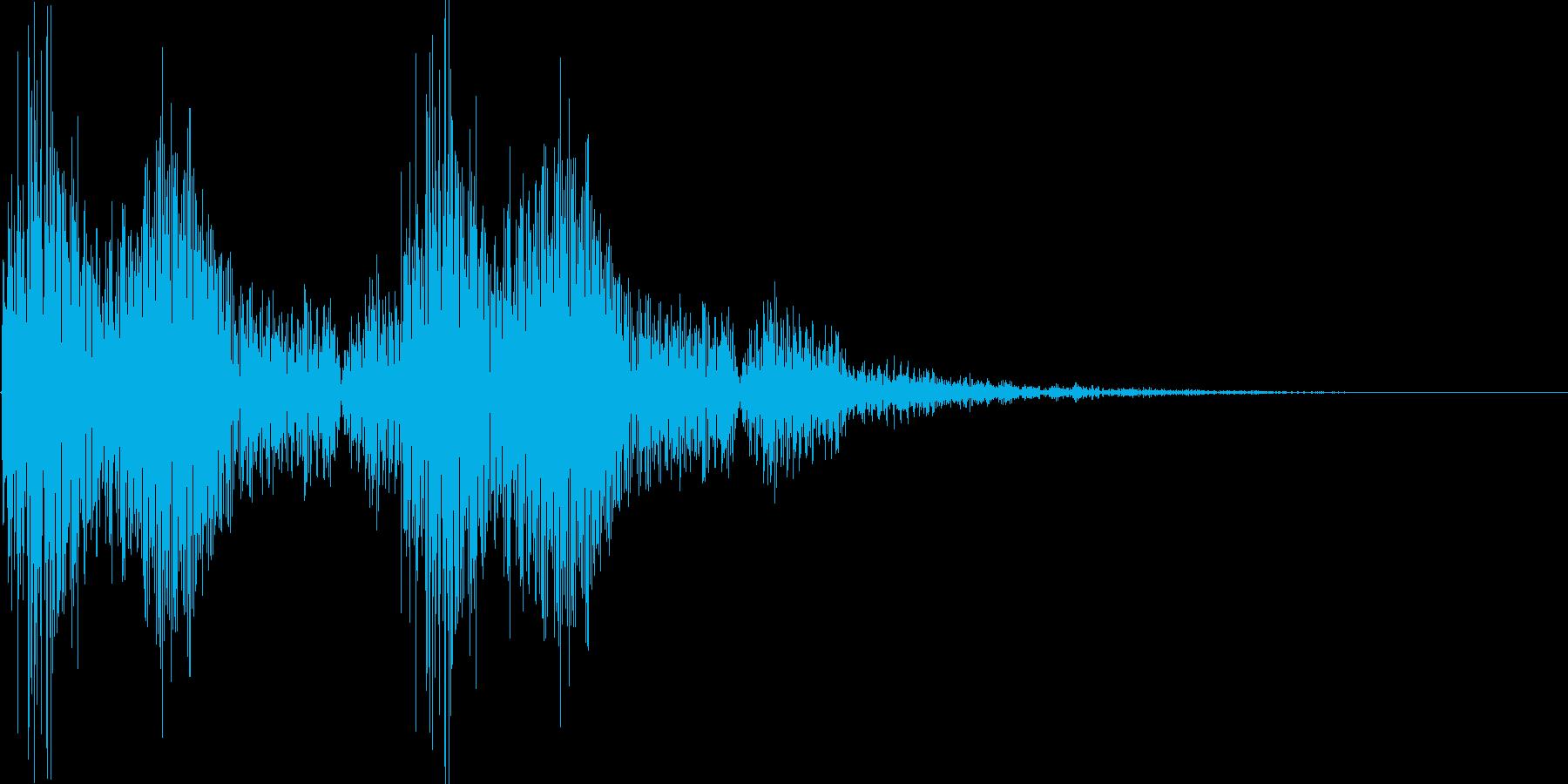 ポポン カカン 小鼓と拍子木の音の再生済みの波形