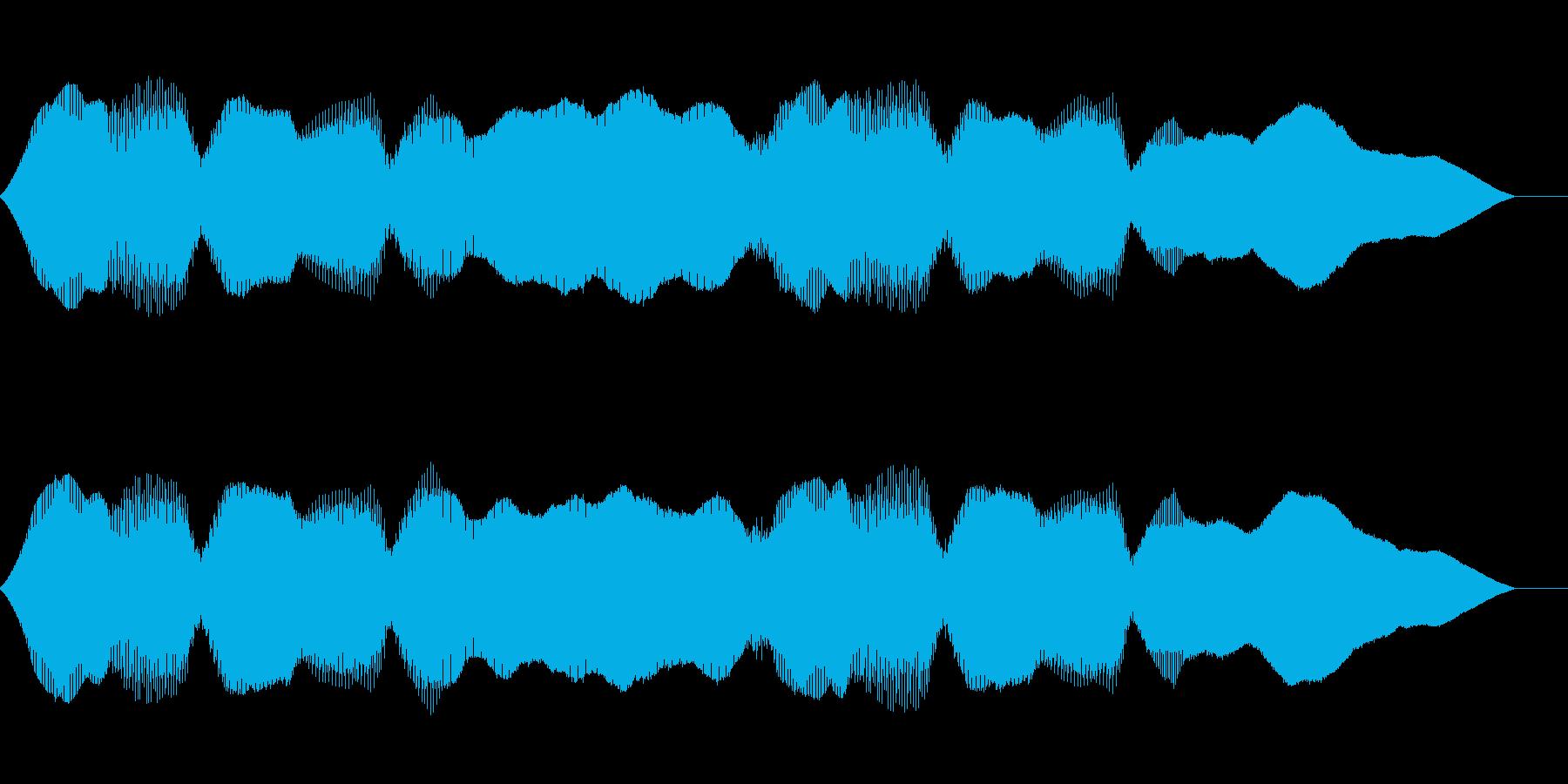 ゲームのようなBGMの再生済みの波形