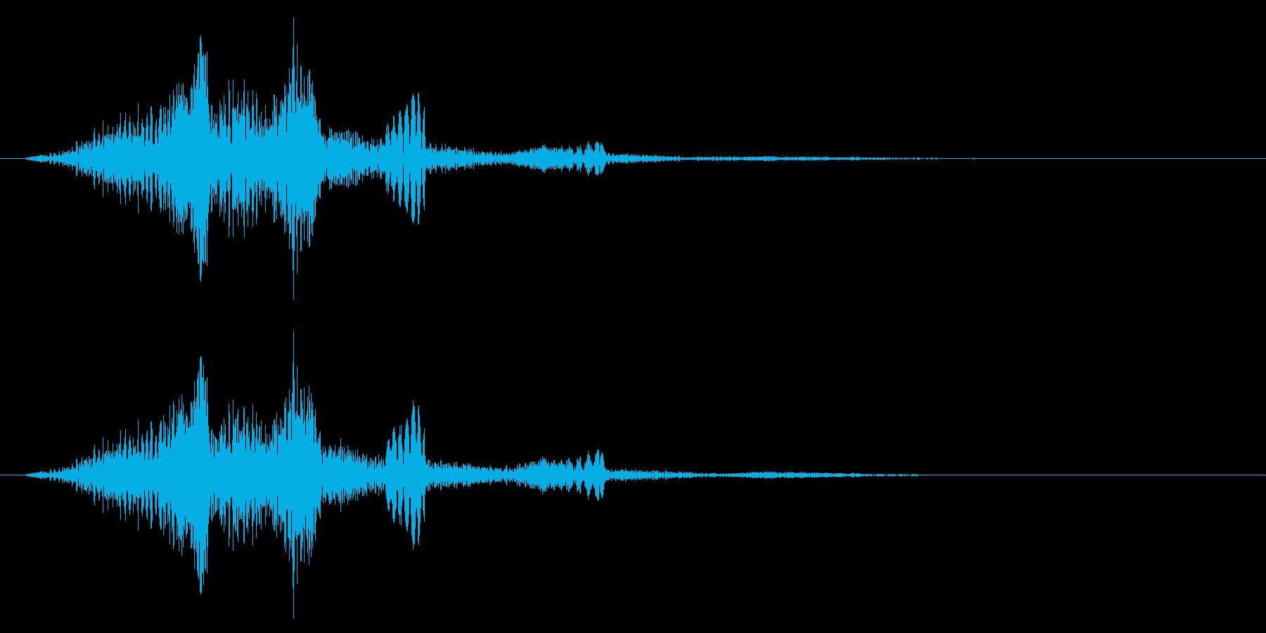 不安を煽るような音の再生済みの波形