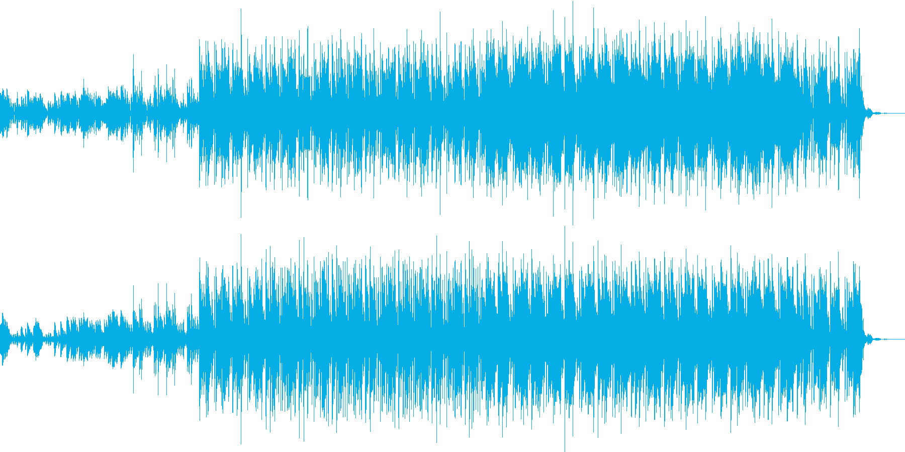 緊張感があるエレクトロソングの再生済みの波形