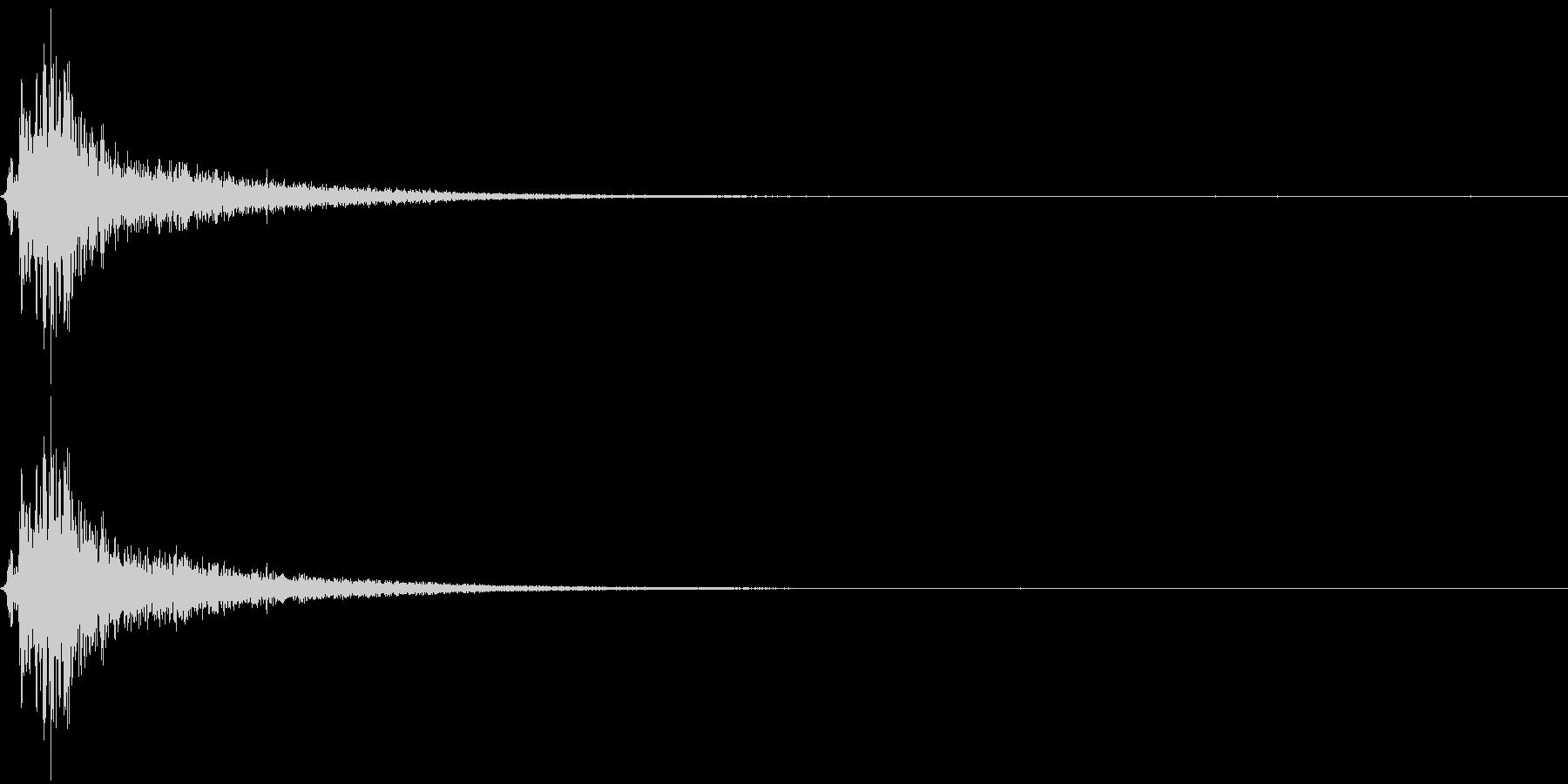 ボウーッ ボシュー 炎 火炎 火球の未再生の波形