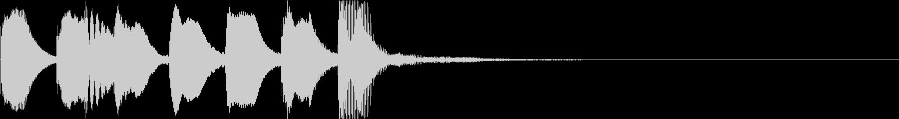 かわいらしいサウンドのジングルの未再生の波形