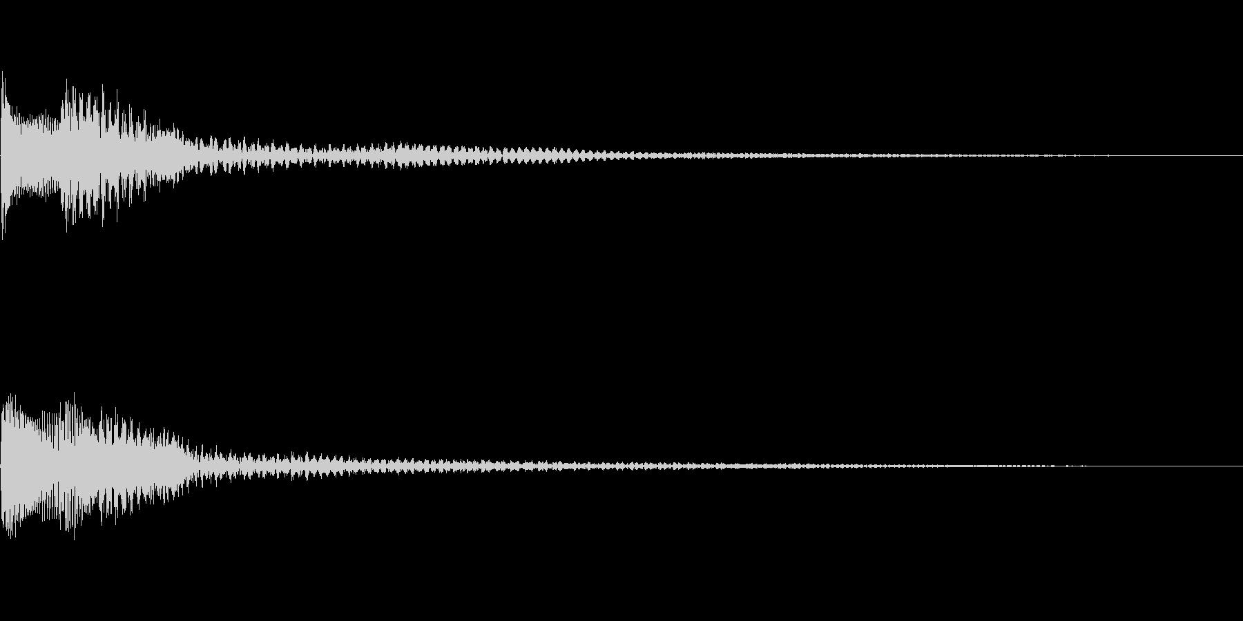 アプリなどに使える 決定効果音02の未再生の波形