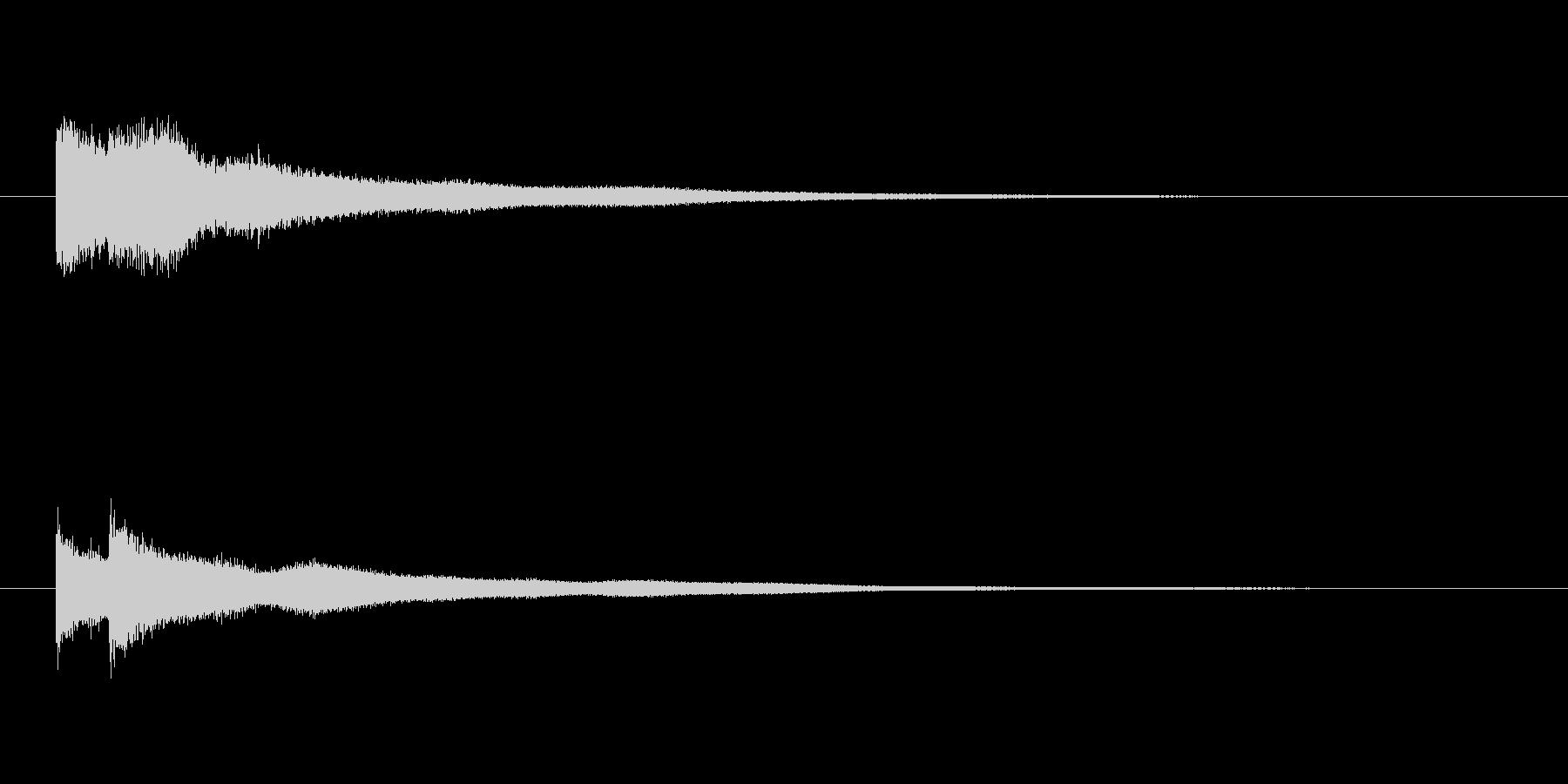 チンチーン 映像のワンポイント等にの未再生の波形